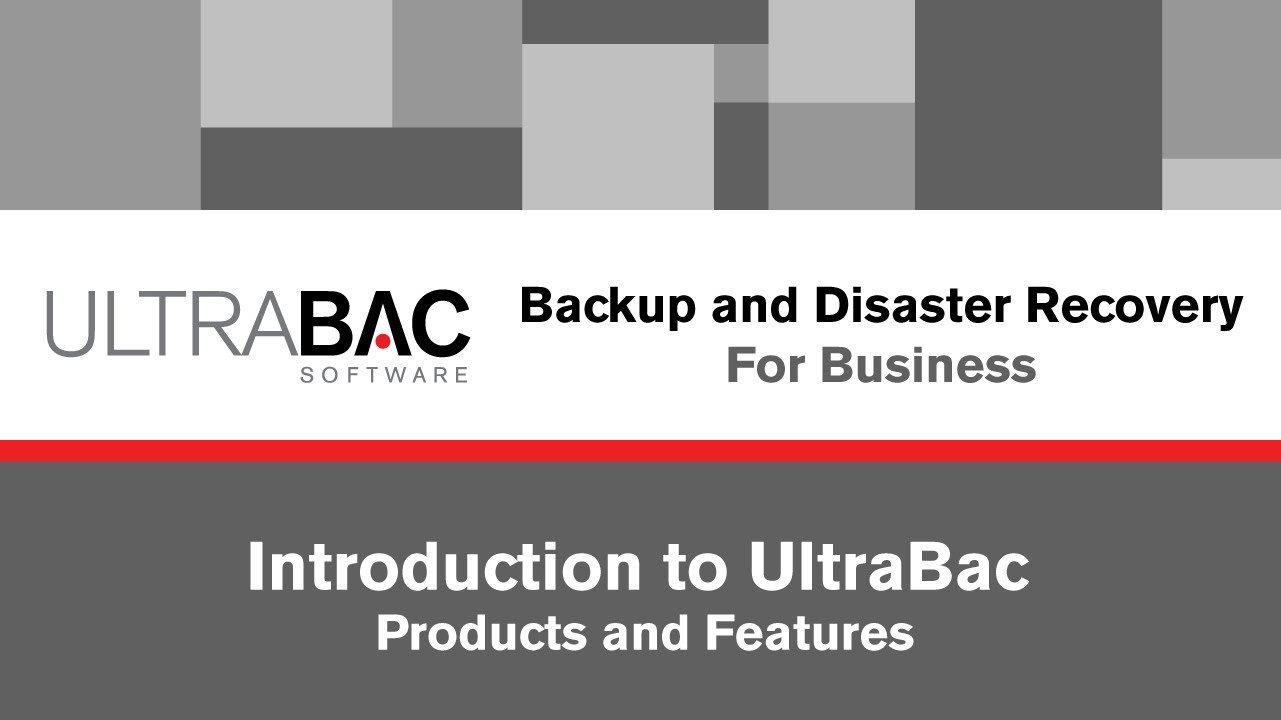 Ultrabac Backup & Disaster Recovery